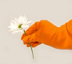 Gloves With Flower