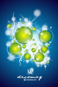 Glowing Balls Vector