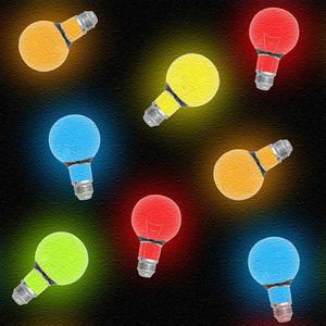 Glowing Bulbs Seamless Texture