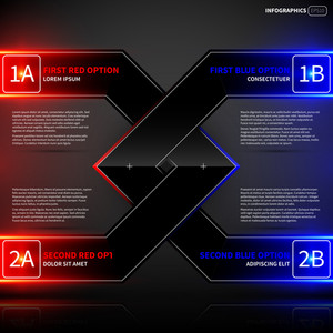 Glowing Design Layout With Two Angled Intersecting Elements. Useful For Presentations Or Advertising.