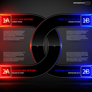 Glowing Design Layout With Two Round Intersecting Elements. Useful For Presentations Or Advertising.
