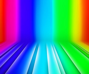 Glowing Stripes Rainbow Stage Background
