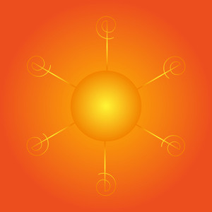 Glowing Sun Icon