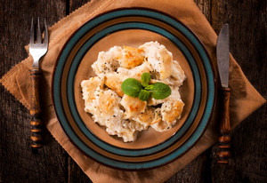 Gnocchi On Plate