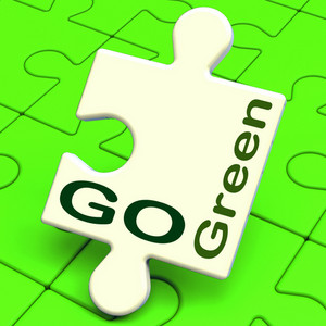 Go Green Means Recycling And Eco Friendly