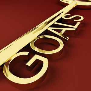 Goals Key Representing Aspirations And Intent