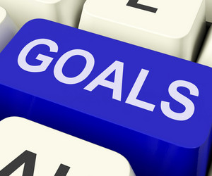 Goals Key Shows Objectives Aims Or Aspirations