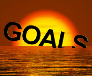 Goals Word Sinking Showing Problem Reaching The Goal