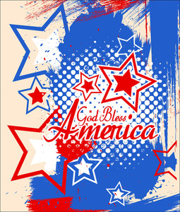 God Bless America 4th Of July Vector Theme Design