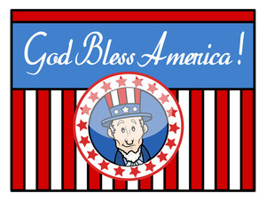 God Bless America Uncle Sam Background Vector
