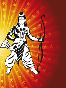 God Rama With Arrow And Bow