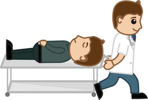 Going For Treatment - Medical Cartoon Vector Character