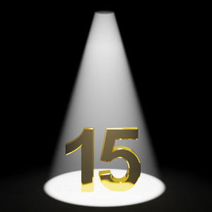 Gold 15th Or Fifteen 3d Number Representing Anniversary Or Birthday