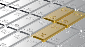 Gold And Platinum Ingots.