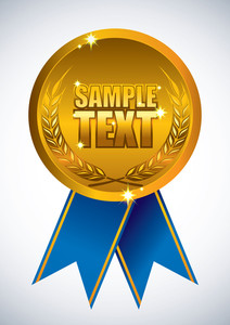Gold Award Ribbonbadge
