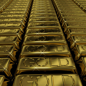Gold Bars As Symbol For Wealth Or Investment