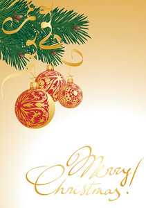 Gold Christmas Decoration. Vector.
