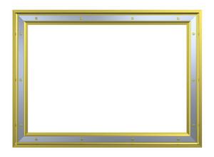 Gold-chrome Frame Isolated On White Background