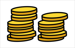 Gold Coins Stack -  Vector Illustration