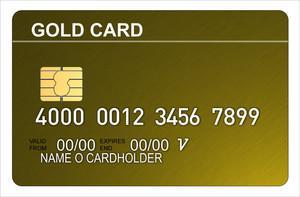 Gold Credit Card Metallic
