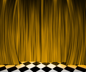Gold Curtain Spotlight Stage Background