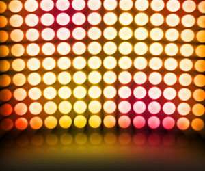 Gold Dance Disco Lights Stage Background