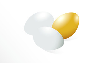 Gold Egg. Vector. No Gradoent Meshes. Easy To Edit.
