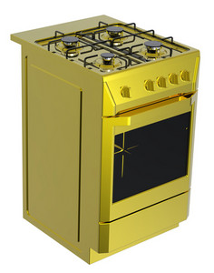 Gold Free Standing Cooker.