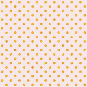 Gold Glitter Polka Dots Pattern On A Light Pink Background