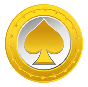 Gold Heart Coin Vector