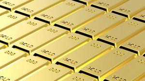 Gold Ingots Background.