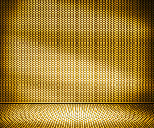 Gold Metal Interior Background