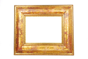 Gold Photo-frame On White