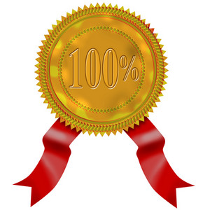 Gold Seal Red Ribbon 100%