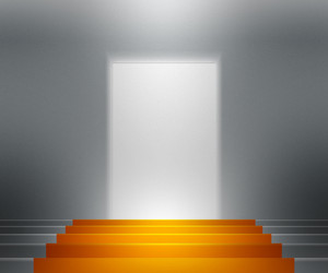 Gold Stairs Spotlight Background