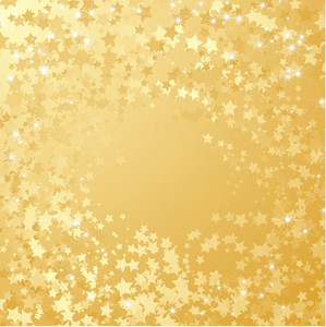 Star Gold Background. Vetor
