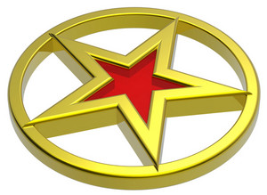 Gold Star In A Gold Circle