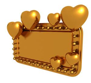 Gold Valentine Banner