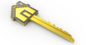 Golden 3d Home Key