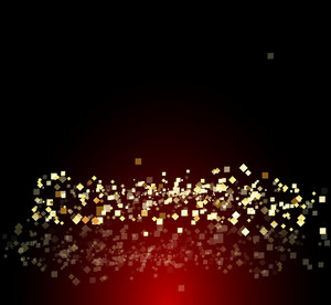 Golden Abstract Sparkles Background