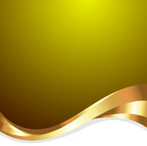 Golden Abstract Wave Background
