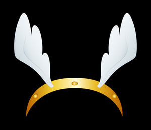 Golden Angel Hair Band With Wings