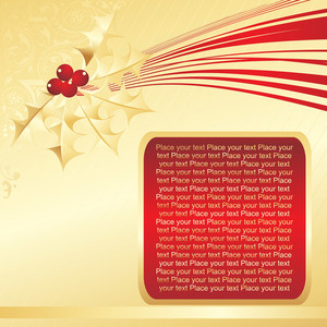 Golden Background With Red Frame
