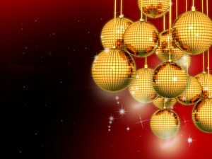 Golden Balls Christmas Background