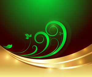 Golden Bright Flourish Background