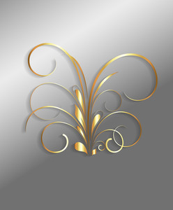Golden Christmas Flourish Vector