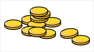 Golden Coins - Vector Illustration