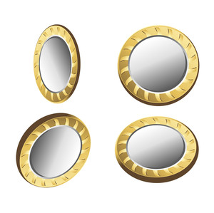 Golden Coins Vectors