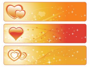 Golden Color Love Banner