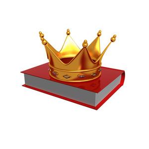 Golden Crown On Book
